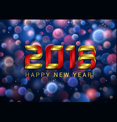 happy new year 2018 with blue and red blurred vector image vector image