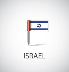 Israel flag pin vector image