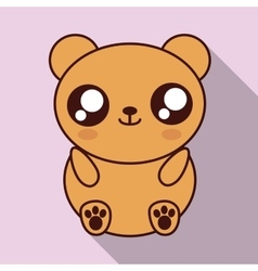 Kawaii bear con cute animal graphic vector