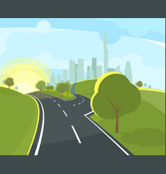 panoramic urban landscape vector image vector image