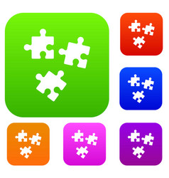 puzzle set collection vector image vector image