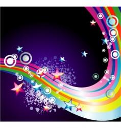 rainbow stars background vector image vector image