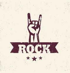 Rock sign hand-horn rock-concert gesture vector