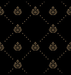 seamless pattern in black color vector image vector image
