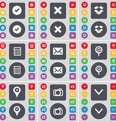 Tick stop dropbox calculator message lollipop vector