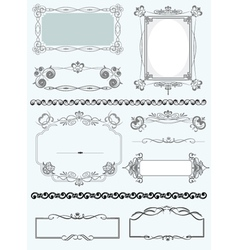 Vintage border frames vector image