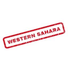 Western sahara rubber stamp vector