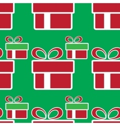 Colorful christmas gift boxes holiday seamless vector
