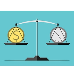 Scales money and time vector image