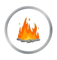 Bonfire icon cartoon Singe western icon from the vector image