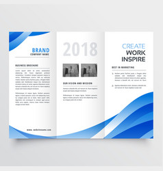 Creative tri-fold brochure design template with vector