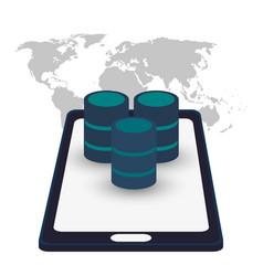Smartphone data server access vector