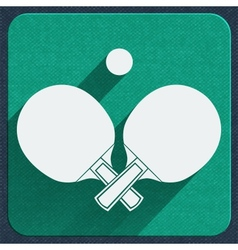 Table tennis icon vector