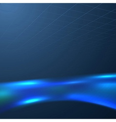 Blue liquid swoosh on a dark background vector