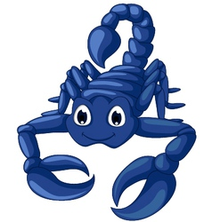 Blue scorpion cartoon vector