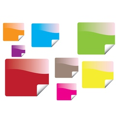Color stickers vector image