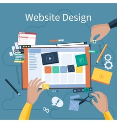 Website design vector