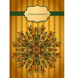 Card with abstract pattern vector