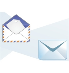 Types of envelopes vector