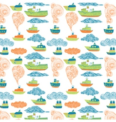 Boat wallpaper vector
