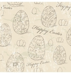 Vintage seamless texture with easter eggs vector image