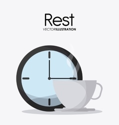 Rest and clock icon design vector
