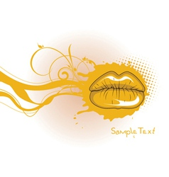 mouth with grunge vector image