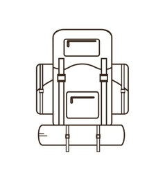 Tourism backpack icon vector