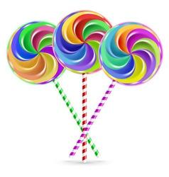 Three lollipops vector image