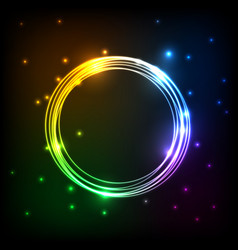 abstract colorful plasma with circles background vector image
