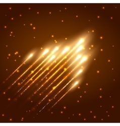 Abstract shining meteor background vector