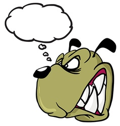 Angry dog with thought bubble vector
