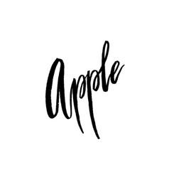 Apple postcard lettering vector