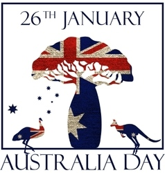Australia day poster vector image vector image