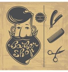 Barber Shop design elements vector image