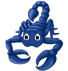 Blue scorpion cartoon vector