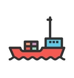 Cargo ship i vector