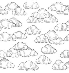 Cloud pattern cloudy sky seamless background vector
