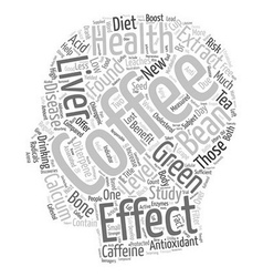 Coffee Health New Antioxidant On The Block text vector image vector image
