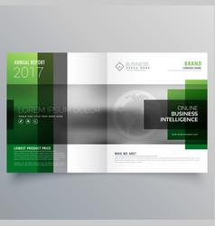 Company bifold leaflet brochure flyer or magazine vector