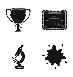 Cup invitation and other web icon in black style vector