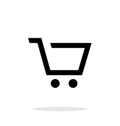 Empty supermarket shopping cart simple icon on vector