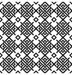 Geometric black and white ornament vector