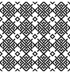 Geometric black and white ornament vector image
