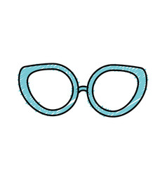 Glasses to use in the eyes vector