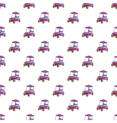 Golf car pattern cartoon style vector image