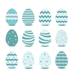 green easter egg vector image vector image