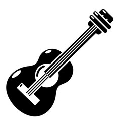 guitar icon simple black style vector image