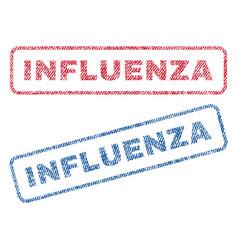 Influenza textile stamps vector