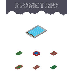 Isometric sport set of fighting basin volleyball vector